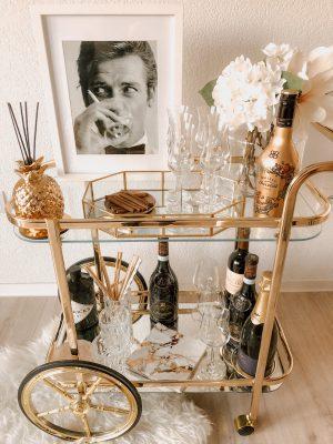 Der goldene Barwagen – so gelingt das Styling!